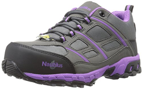 Nautilus Steel Toe Athletic Shoe (Nautilus 1789 Women's ESD Carbon Composite Fiber Ultra Light Weight Safety Shoe, Grey, 7.5 M US)