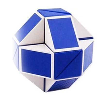 fe94d861fbc5f Shengshou Magic Snake White and Blue Twist Puzzle Twisty Toy