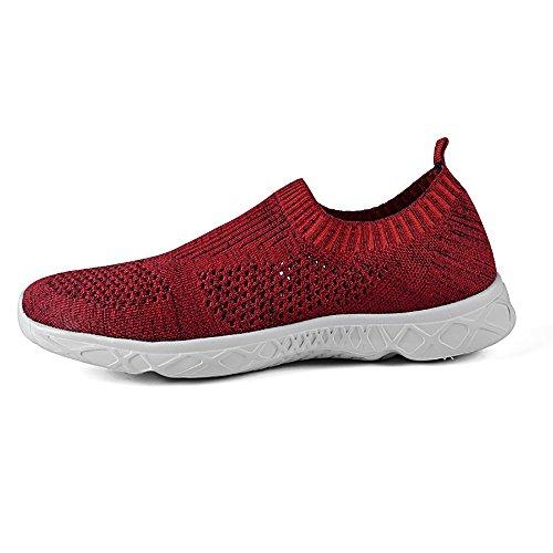 Feetmat Mens Slip auf Wasser Schuhe sportliche Wanderschuhe rot