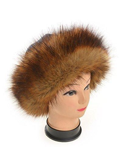Haute Für Divas Womens Kunstpelz Promi Russisch Hut Damen Winter Ski Wärmer Hut - Dunkelbraun, Damen, Einheitsgröße