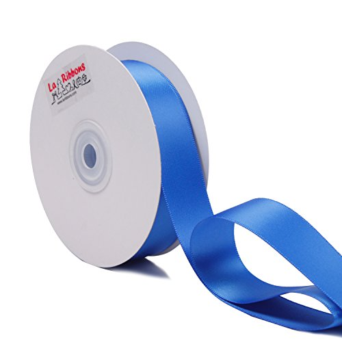LaRibbons 1 inch Wide Double Face Satin Ribbon - 25 Yard (350-Royal Blue)