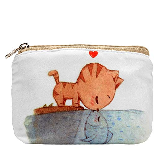 Women and Girls Cute Fashion Coin Purse Wallet Bag Change Pouch Key Holder (Love)