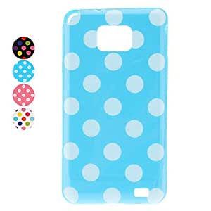 JJE Stylish Dots Pattern Soft Case for Samsung Galaxy S2 I9100 (Assorted Colors) , Blue