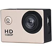 Boyiya 1080P HD Mini Waterproof Sports Recorder Car DV Action Camera Camcorder (Gold)