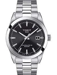 Mens Gentleman Swiss Automatic Stainless Steel Dress Watch (Model: T1274071105100)