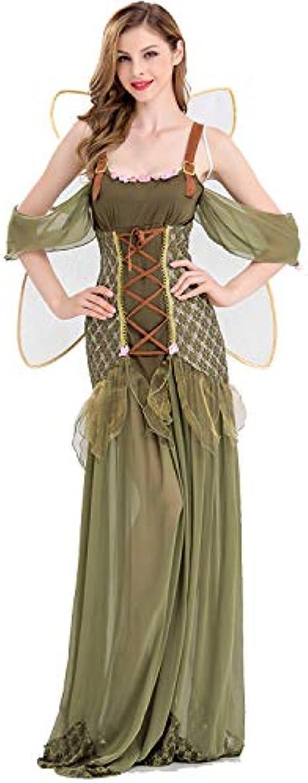 Disfraz de Hada de los bosques, Verde, con Vestido, Juego de rol ...