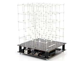 Kit Cubo de Leds 3D 5 x 5 x 5 Leds Blancos
