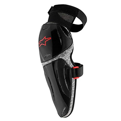 Alpinestars Boy's Youth Vapor Pro Knee Protector, Black Gray, One Size-One Size