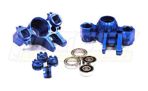 - Integy RC Model Hop-ups T4073BLUE Billet Machined Steering Block (2) for Traxxas 1/10 Revo 3.3, E-Revo, Summit