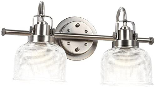 Progress Lighting Archie 2-Light Antique Nickel Vanity Fixture