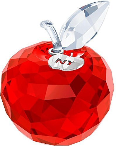 Swarovski Crystal Christmas Figurines - Swarovski New York Apple, Red