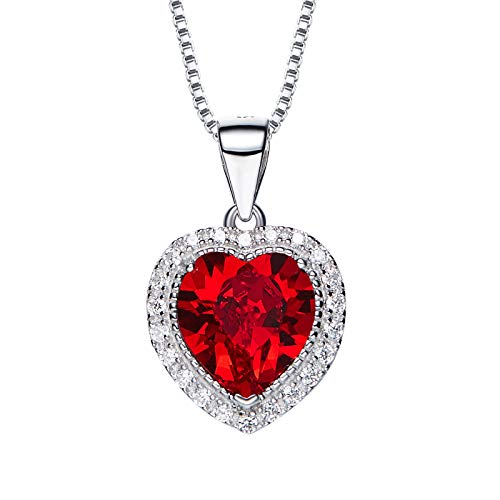 SNOWH Swarovski Necklaces for Women, Mothers Necklace with Birthstones, Fashion Jewelry Necklaces Gifts for Her Mother's Day Wedding ()