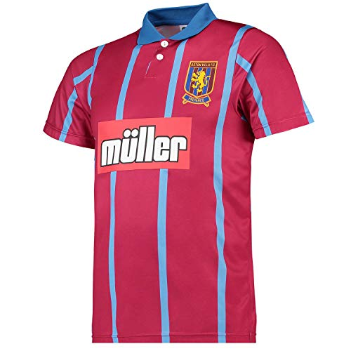 Aston Villa Home Shirt - Score Draw Aston Villa FC 1994 Home Retro T-Shirt
