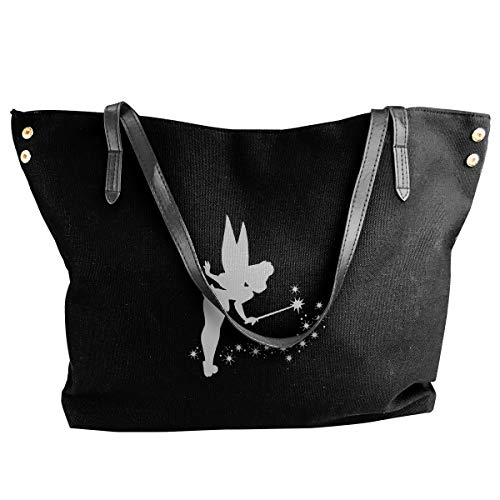 Canvas Tote Bag Tinkerbell Platinum Totes Purse Handbags Shoulder Bags For Women]()