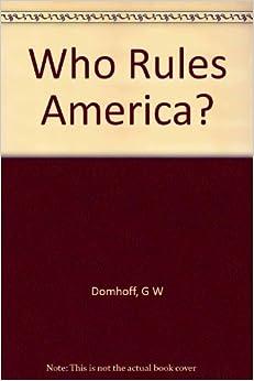 Book Who Rules America?