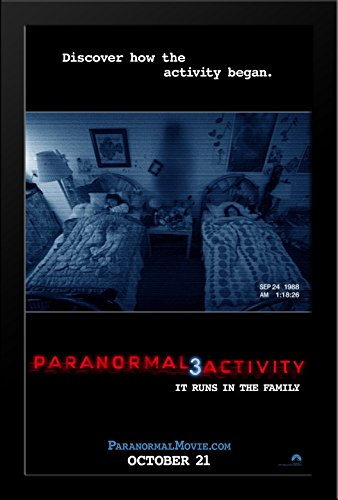 Paranormal Activity 3 28x38 Large Black Wood Framed Movie Poster Art Print by ArtDirect