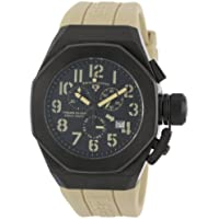 Swiss Legend Men's 10542-BB-01-CMA Trimix Diver Chronograph Black Dial Light Olive Green Silicone Watch