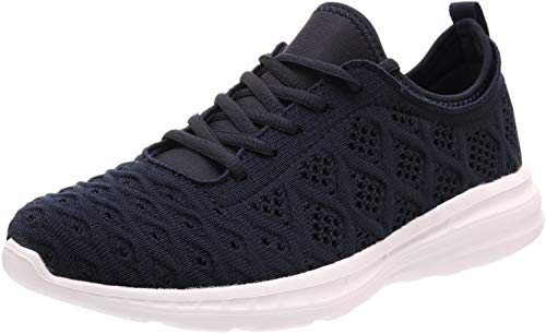 JOOMRA Women Gym Sneakers Casual Ladies Lightweight Fashion Walking Trail Running Outdoor Athletic Tennis Shoes Blue Size 6.5