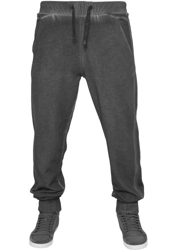 URBAN CLASSICS Spray Dye Sweatpants TB481 darkgrey XL