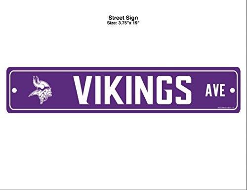 Sign Vikings Street Minnesota - WinCraft NFL Minnesota Vikings Street Sign