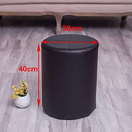Amazoncom Yzh Practical Chairstool Round Wooden Shoe Benchthe