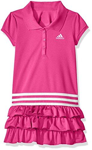 Adidas Girls Dress - adidas Toddler Girls' Active Polo Dress, Neon Pink, 2T