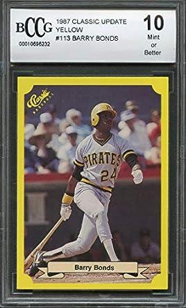 Amazoncom 1987 Classic Update Yellow 113 Barry Bonds Pirates