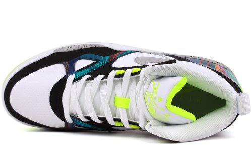 Nike Air Flight 13 Mid, Uomo White/Wolf Grey/Volt/Black