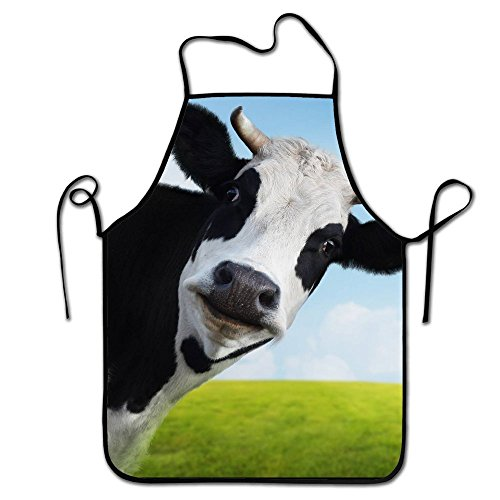Liubajsdj-Waist Adjustable Professional Kitchen Apron-Cows In The Grassland -Woman Aprons Comfortable Perfect For Cooking Guide