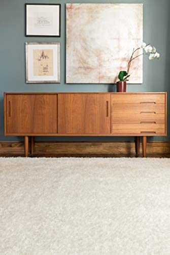 Loloi Callie Collection Shag Area Rug, 9-Feet 3-Inch by 13-Feet, Ivory