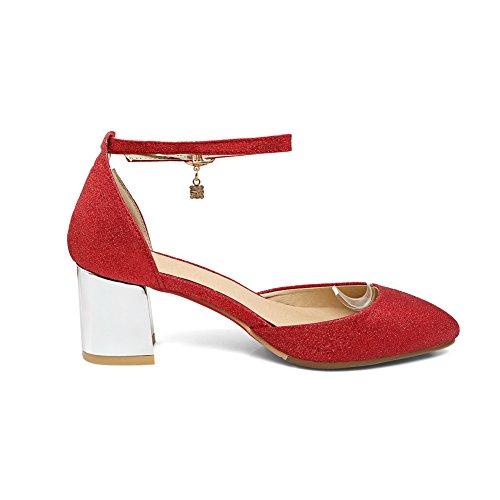 Red BalaMasa ASL05252 Femme Compensées Sandales wHZwYIFqx