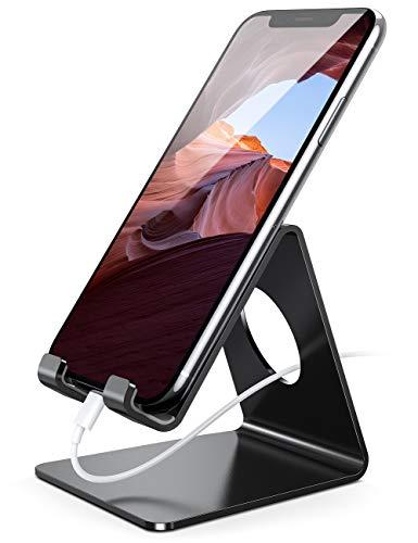 Lamicall Soporte Movil, Soporte Telefono : Soporte Dock Base para Telefono e Smartphones para Phone XS XS MAX XR X 8 7 6 Plus 5 4, Samsung S8 S7, Huawei, Otras Smartphones - Negro