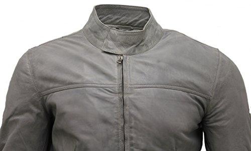 Veste de survêtement en cuir Nappa pour homme