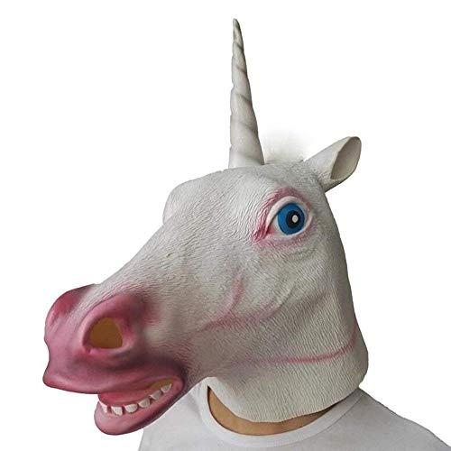 Unicorn Mask Halloween Cosplay Masquerade Costume Party Latex