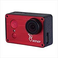 ESTEP Smart Android 2.4 Touchscreen 12MP Ultra HD 1080P Waterproof 170° Wide-angle Wifi Sports DV Action Camera Camorder with Accessories Kit,Red