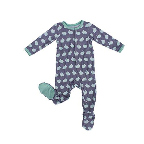 Kozi & Co. Baby Sleeper Footie Pajamas Infant Boys & Girls, Bunny Hop 2T