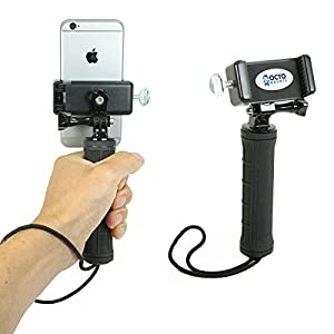 OCTO MOUNT Hand-Held Stabilizer for Cell Phone or GoPro Camera. Compatible with iPhones, Samsung Galaxy, HTC, etc.