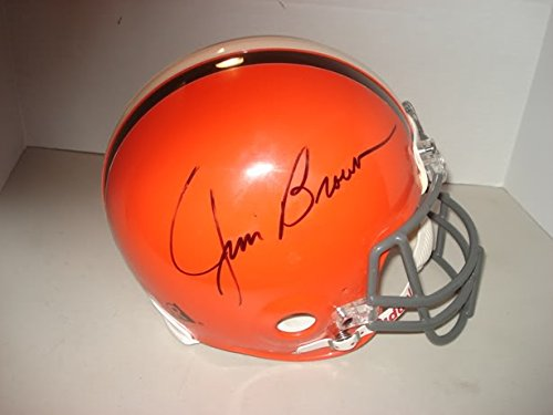 Jim Brown Hand Signed Autographed Browns Riddell Football Helmet Authentic Auto (Baseball Riddell)