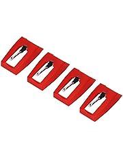 aluminium utsökt utförande skivspelare nål 4 st fonograf stylus högklassig ABS-plast fonograf nål för hem vardagsrum musik