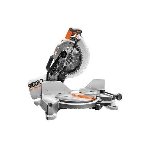 RIDGID 15-Amp 10 in. Dual Bevel Miter Saw with ()