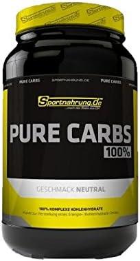 Sportnahrung.de Pure Carbs - 100% komplexe Kohlenhydrate für mehr Power im Training durch langanhaltende Energieversorgung - 3000g