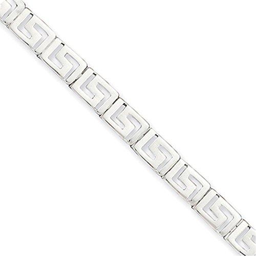 - Lex & Lu Sterling Silver Greek Key Bracelet 7.5