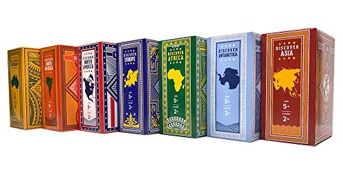 World Card Series Complete Set - 7 Continents: Africa, Asia, Antarctica, Australia, Europe, North America, South America - World Facts, Geography, Playing Cards, Educational Games, Travel, Adventure