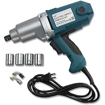 "1/2"" Electric Corded Impact Wrench Gun Set W/Case"