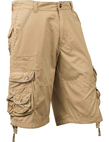 Ma Croix SM Mens Premium Cargo Shorts Without Belt (38, sm01_Khaki)