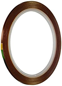 """Kapton 18-1S Polyimide Tape with Silicone Adhesive, 0.125"""" x 36 Yards"""