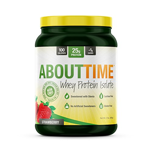 Amazoncom About Time Whey Protein Isolate Strawberry 2lb 25g