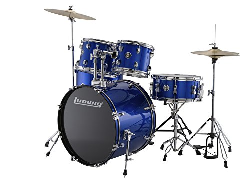 New Ludwig Accent Series Fuse 5-Piece Drum Set, Blue