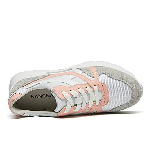 KANGNAI 女性の快適なカジュアルスポーツシューズランニングシューズ2色
