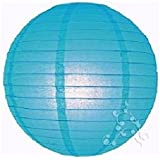 lampion boule chinoise turquoise 30 cm